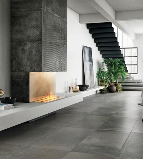 Alurock Floor Tiles Steel Stage Grey Bos