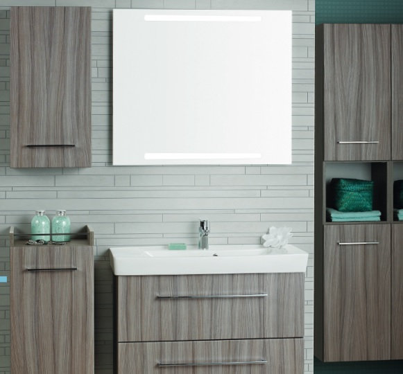 Mirror with integrated lights 80x70.4cm