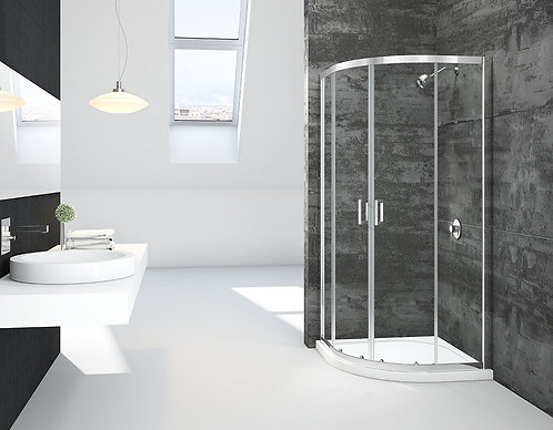 900mm Quad Shower Door + Tray Special