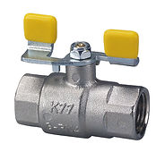 Brass Ball Valves PN1 Yellow T Handle Ga
