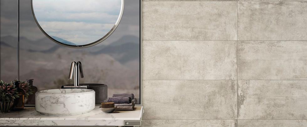 Diesel Living Tan Scratch Concrete Tiles
