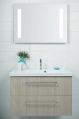 Mirror 70x90cm with integrated LED + sensor