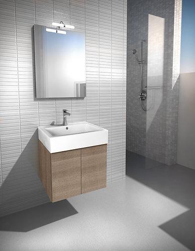 Maniglia Vanity Unit, Basin, Mirror + Light