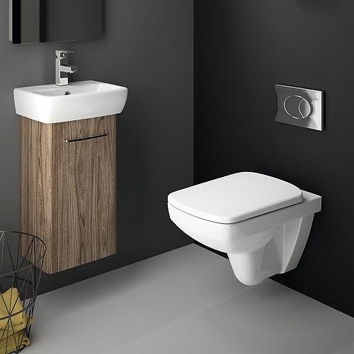 Selanova Square Wall Hung Toilet & Frame Set