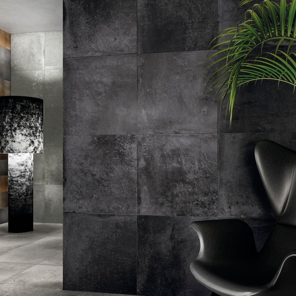 Alurock Steel Black Floor Tiles
