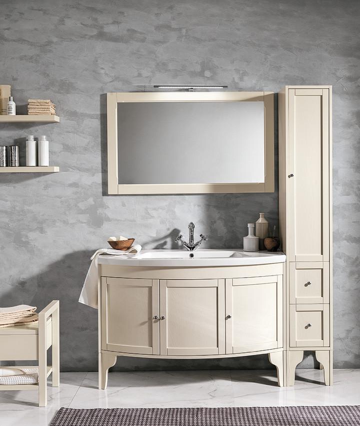 Stefania Cream Finish Bathroom Vanity Un