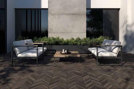 Dark Chevry VT2 Outdoor Tiles