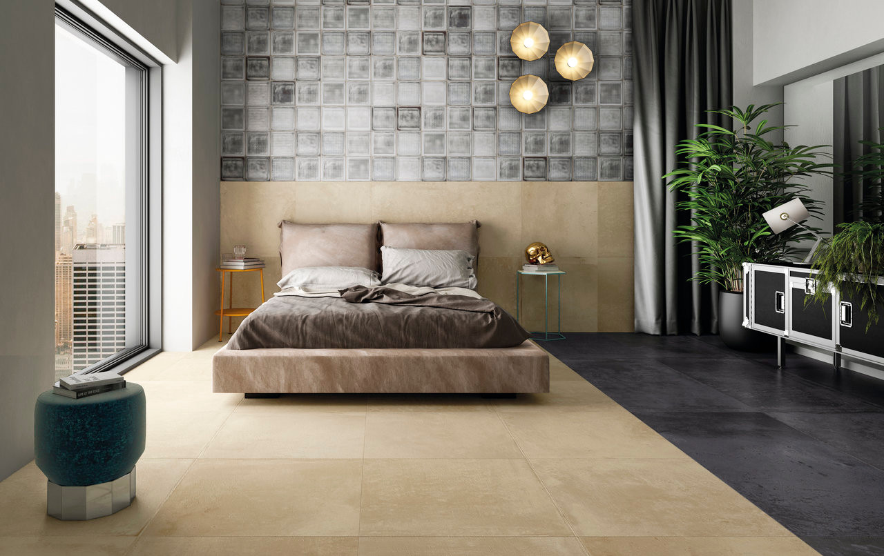 Alurock Floor Tiles Light Beige Black Bl