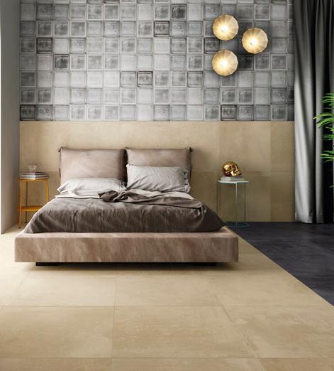 Alurock Floor Tiles Light Beige Black Bl