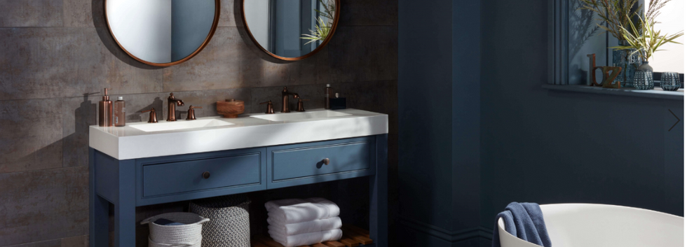 Langton Vanity Unit Pale Navy