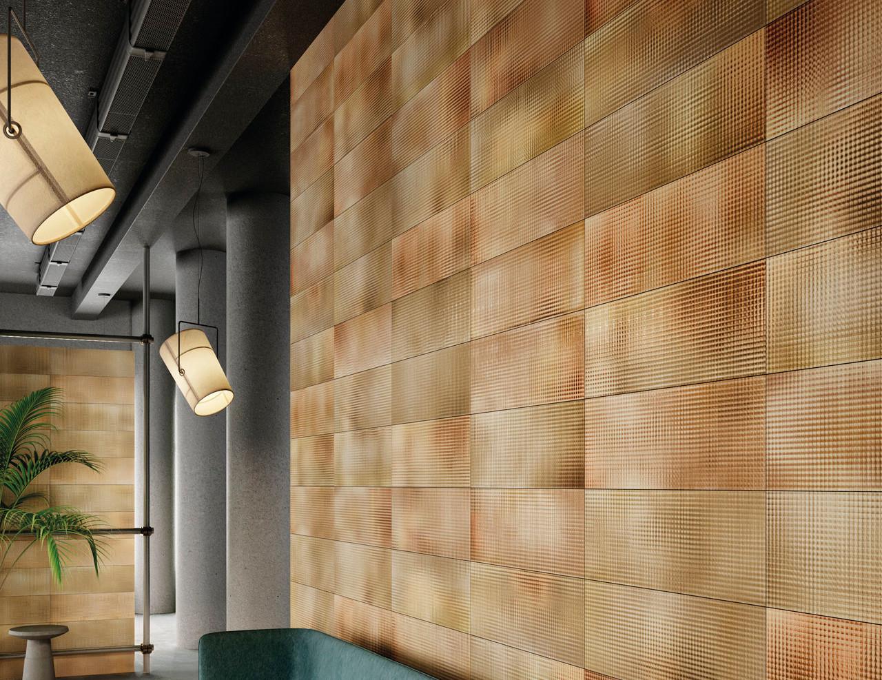 City Lights Amber Colour Wall Tiles