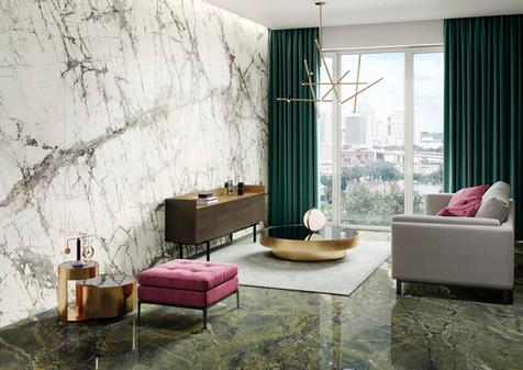 Verde Persia Italian Marble Tile Slabs