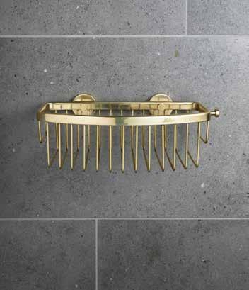 Bond Brass Bathroom Basket
