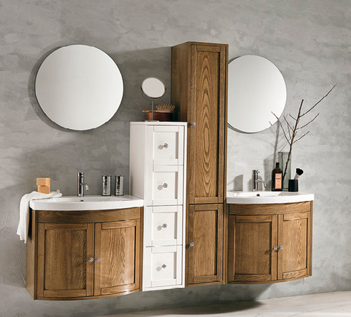 Stefania Light Finish Bathroom Vanity Un