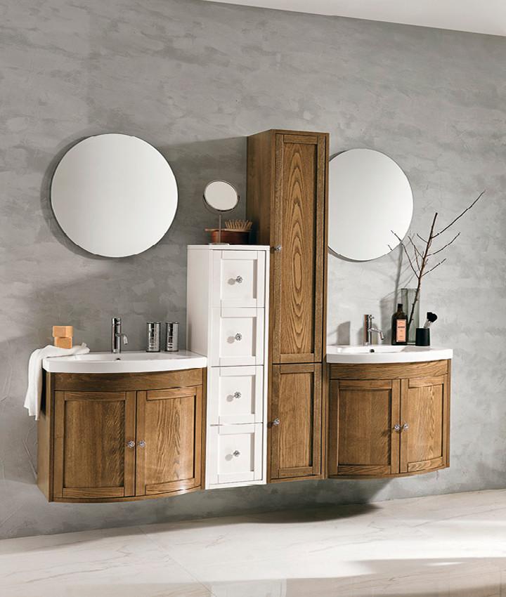 Stefania Light Finish Bathroom Vanity Un