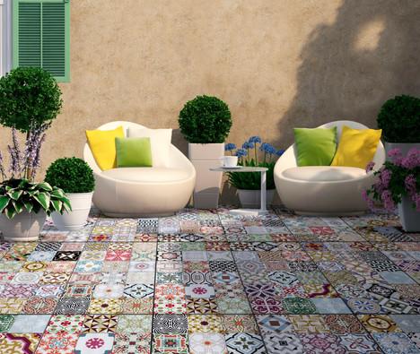 North Patchwork VT2 Outdoor Tiles