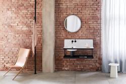 Alape Steel 19 Large Sink in Industrial Bathroom Design