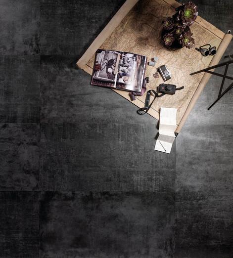 Diesel Living Black Scratch Concrete Til