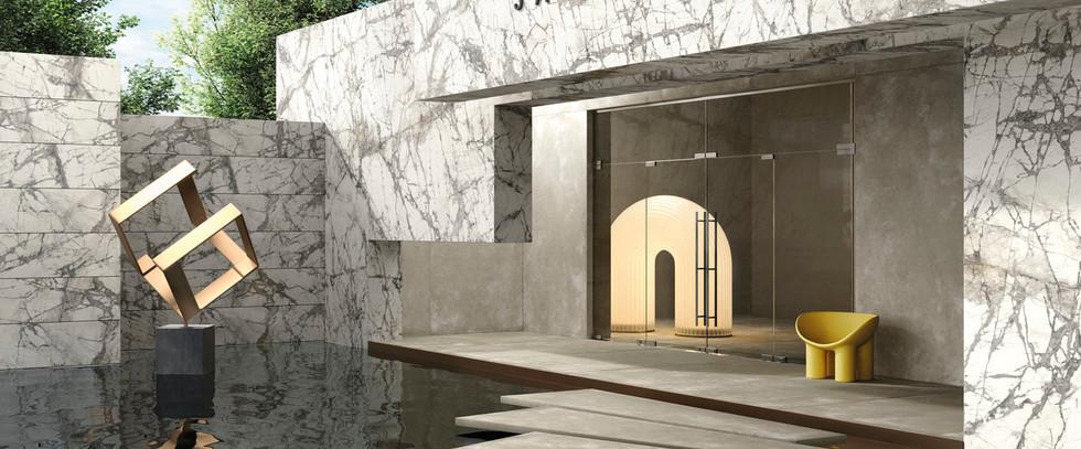 Calcatta Grey Italian Marble Tile Slabs