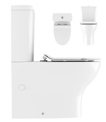 Kai Compact Close Coupled Toilet, Cistern & Soft Close Seat