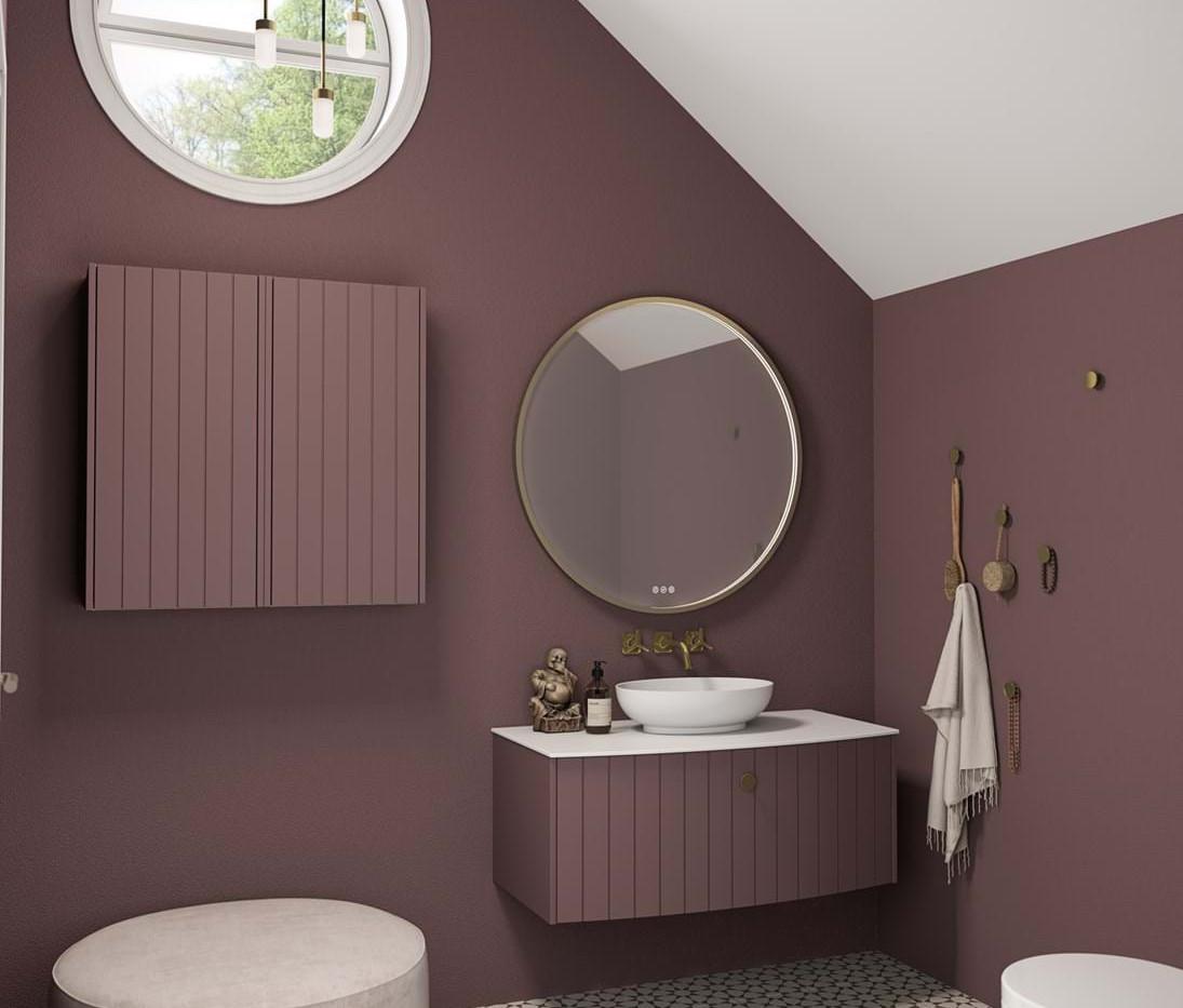 Vintage You Sonate 100 Purple Vanity Unit