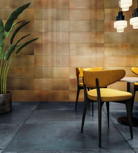 Alurock Indigo Light Amber Colours Floor