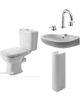 Toilet, Basin + Full  Pedestal