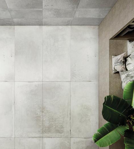 Alurock Floor Tiles White Black