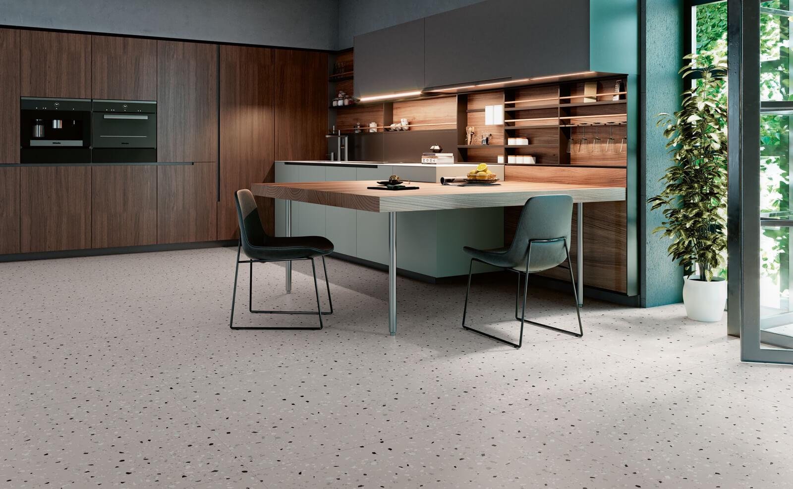 South Grey Terrazzo Style Tile Cocina