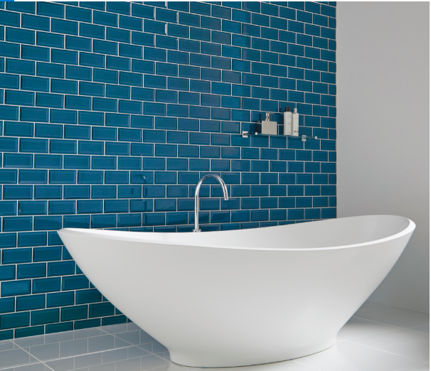 Metro Blue Tiles  7.5x15cm