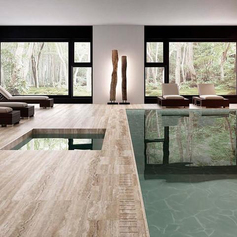 Travertino Maxfine Large Stone Tiles