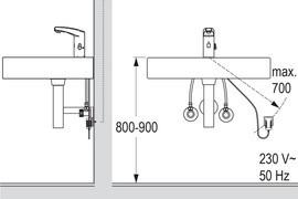 Umaxx Lavatory Faucet M21 Dimensions