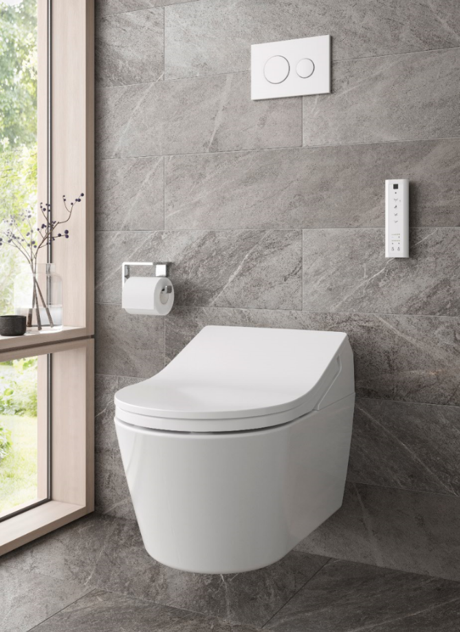 TOTO Japanese Washlet RX White Wall Hung Toilet