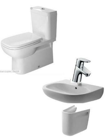 Toilet,  Basin + Semi Pedestal