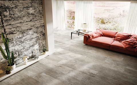 Combustion Crackle Wood Effect Tiles