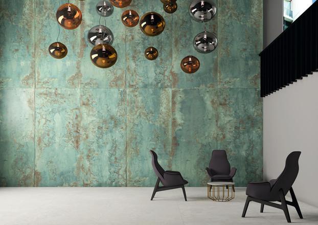 Zinc Green Metal Tiles