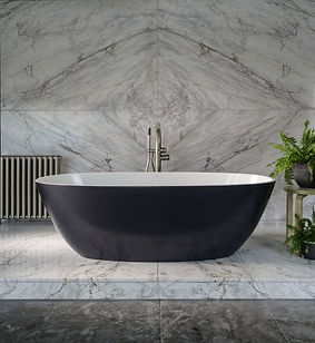 Terrassa Anthracite Bath Tub
