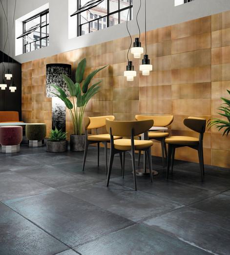Alurock Indigo Light Amber Floor Tiles