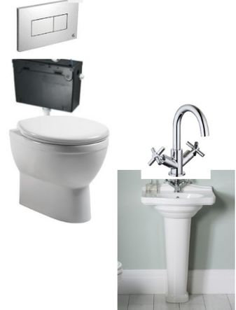 Laura Ashley Basin, Toilet + Mixer