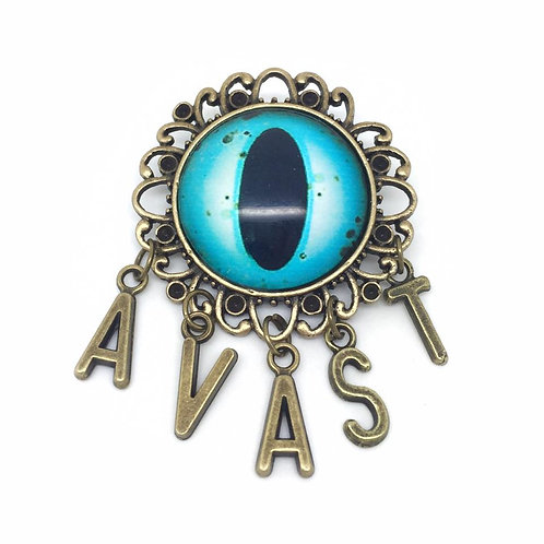 Avast Kraken Eye Pirate Brooch