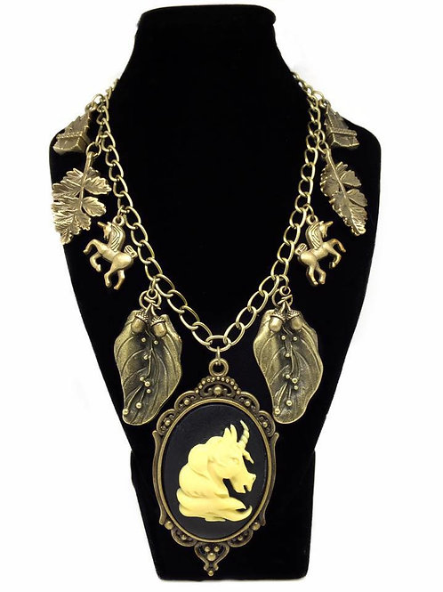 Enchanted Unicorn Forest Chunky Charm Necklace