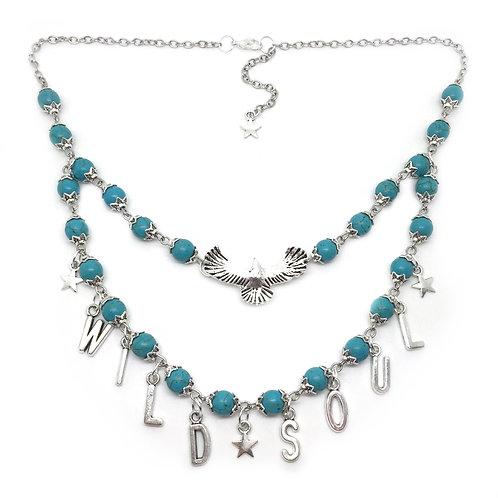 'Wild Soul' Boho Eagle Turquoise Necklace