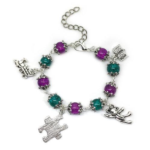 Children's Toy Themed Teddy Charm Bracelet