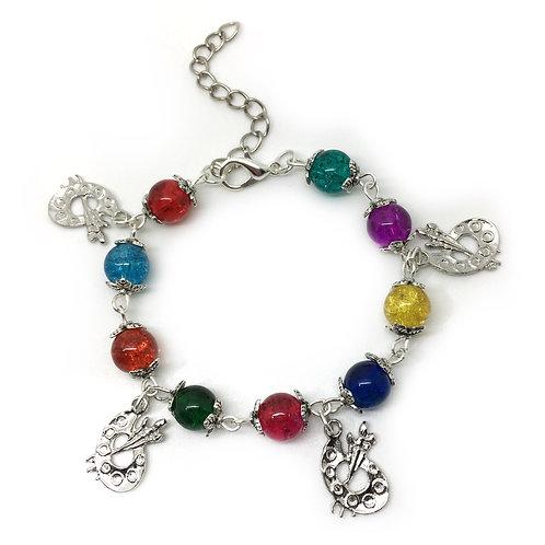 Children's Rainbow Bead Artist Bracelet