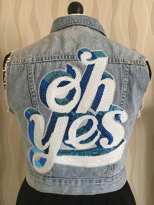 Quirky Sequin Patch Denim Jacket