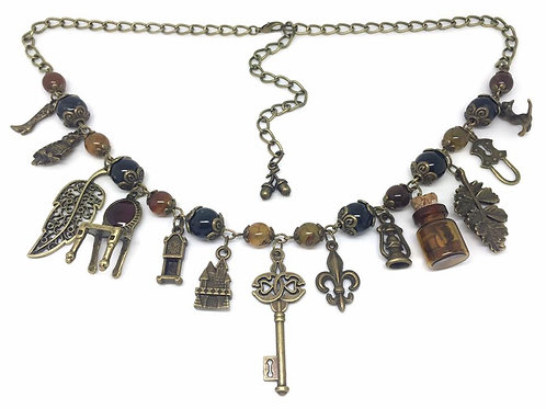Haunted House Dragon Vein Charm Necklace