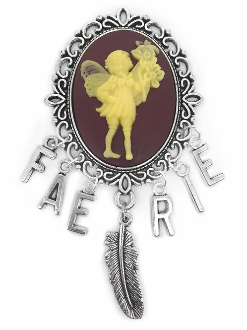 Large Faerie Cameo Charm Brooch