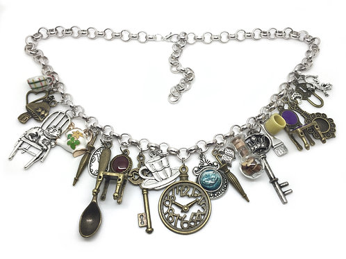 Alice in Wonderland Quirky Charm Necklace