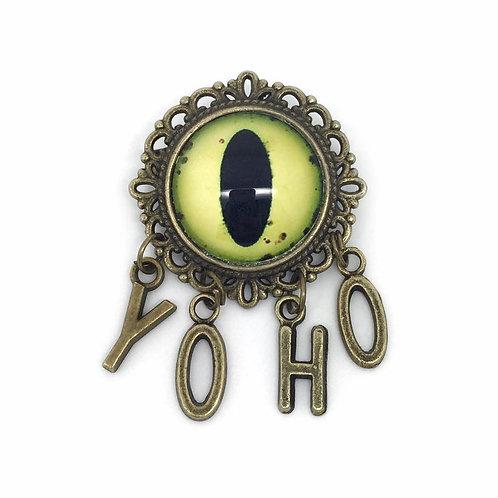 Yoho Pirate Phrase Kraken Eye Brooch