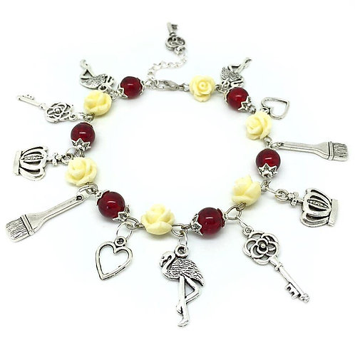 Queen of Hearts - Painting The Roses Red Bracelet
